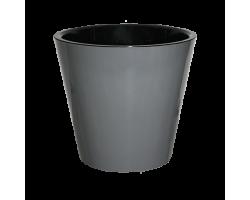 Горшок Фиджи D16мм 1,6л графит