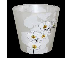 Горшок Фиджи SIMPLE ORCHID DECOR D16мм 1,6л белая орхидея