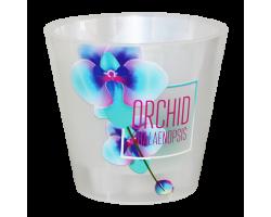 Горшок Фиджи SIMPLE ORCHID DECOR D16мм 1,6л голубая орхидея