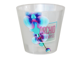 Горшок Фиджи SIMPLE ORCHID DECOR D16мм 1,6л голубая орхидея