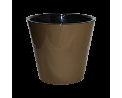 Горшок Фиджи D16мм 1,6л металл бронза