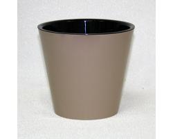 Горшок Фиджи D16мм 1,6л шоколадный