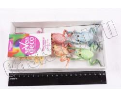 Набор лягушек на вставке (пластик) 50мм (упак.6шт)