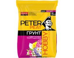 Для цветочных культур универсальный ПИТЕР ПИТ линия HOBBY 5,0л ярко-розовый