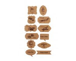 Аксессуар для декора 22/11-93 набор из 24 wishcard крафт- кофе чай сладости 5-9см