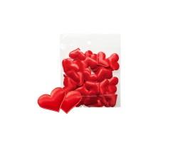 Набор сердечек блестящих 3,2см (упак.50шт) красный арт.1049/1-3.2/RD