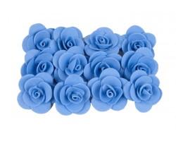 Декор для творчества Роза 1,5см (упак.12шт) синий