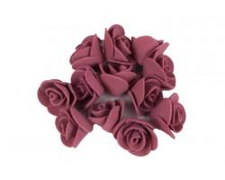 Декор для творчества Роза 1,5см (упак.12шт) бордовый