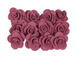 Декор для творчества Роза 2,5см (упак.12шт) бордовый