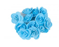 Декор для творчества Роза 2,5см (упак.12шт) голубой