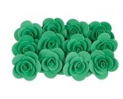Декор для творчества Роза 2,5см (упак.12шт) темно-зеленый
