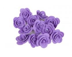 Декор для творчества Роза 2,5см (упак.12шт) фиолетовый