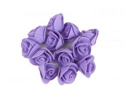 Декор для творчества Роза 1,5см (упак.12шт) светло-фиолетовый