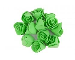 Декор для творчества Роза 1,5см (упак.12шт) салатовый