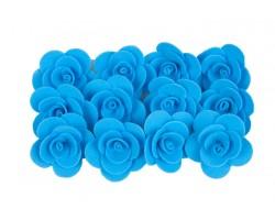 Декор для творчества Роза 2,5см (упак.12шт) темно-голубой