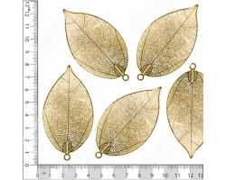 Лист фикуса золотая коллекция (5шт) арт.ДМ00061