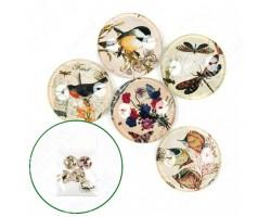 Медальоны из стекла Осень 30мм (упак.5шт)