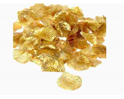 Аксессуар свадебный 112-11 лепестки роз золотые 144шт.