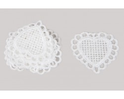 Декор Сердце салфетка в кружеве (12шт) арт.37750030