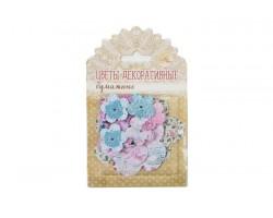 Набор для творчества цветы бумажные Shabby day 2,5см, 4,5см ,6см (30шт) арт.58811