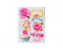 Наклейки бумажные объемные Шебби Шик арт.52510