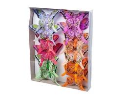 Набор бабочек на клипе 10см (12шт) арт.1812-12/10cm