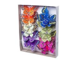 Набор бабочек на клипе 10см (12шт) арт.1809-12/10cm