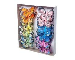 Набор бабочек на клипе 10см (12шт) арт.1835-12/10cm