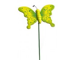 Бабочка на вставке 6*8*H21см зеленый
