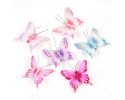Бабочки Нежность на прищепке 8,5см (упак.12шт) арт.10041