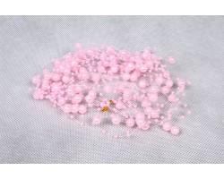 Бусы жемчужные розовые 130см (упак.5шт) арт.8401