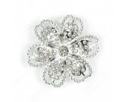 Брошь маргаритка с кристаллами 1шт. арт.ДМ00215