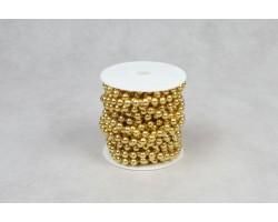 Бусы на бобине 8мм*10м золото