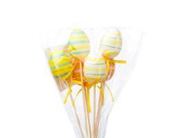 Набор яиц на вставке (пластик) 6шт.4см*H28см микс арт.014-6