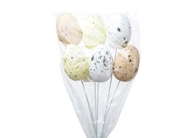 Набор яиц на вставке (пенопласт) 6шт.6см*H30см микс арт.CX18-010C