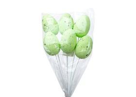Набор яиц на вставке (пенопласт) 6шт.6см*H30см зеленый арт.CX18-09-GN