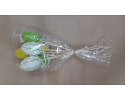 Набор яиц на вставке (пластик) 6шт.4см*H28см микс арт.036-6