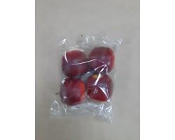 Яблоки декоративные (пластик) 4.5см (упак 4шт) красный