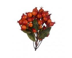 Ягоды декоративные красно-оранжевые 22*15см арт.0599-31