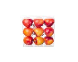 Набор яблок на проволоке 5см (9шт) красно-оранжевый
