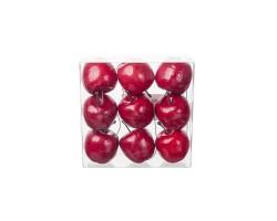 Набор яблок на проволоке 5см (9шт) красный