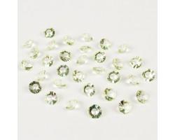 Кристаллы бриллианты 12мм 110гр салатовые