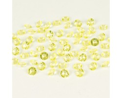 Кристаллы бриллианты 12мм 110гр светло-желтые арт.98800