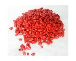 Гравий декоративный радуга 500гр красный арт.2885
