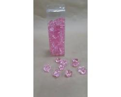 Искусственный лёд 22-27мм 200гр розовый