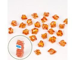 Искусственный лёд 22-27мм 200гр оранжевый
