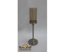 Подсвечник (металл/стекло) D10*H33см 5500012075106