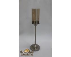 Подсвечник (металл/стекло) D10*H38см 5500012075105