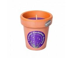 Свеча в кашпо с запахом Лаванды (43 часа) 9*9,6см фиолетовый
