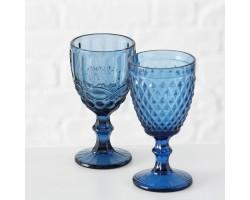 Подсвечник (стекло) Н17см синий арт.1014112
